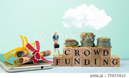 女性起業家がクラウドファンディングで資金集め 75653912