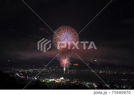 【長野県】市田灯ろう流し大煙火大会 75680970