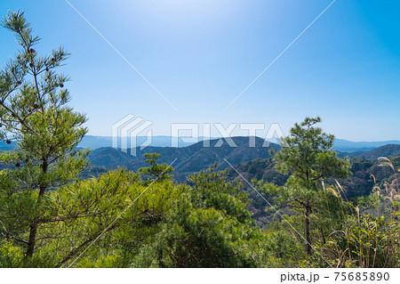 雲山峰ハイキングコースの登山道から見た景色 75685890
