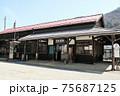 「奈良井宿」観光の入り口となるJR奈良井駅。駅舎もノスタルジック 75687125