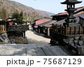 中山道「奈良井宿」。木曽路の難所、鳥居峠を控えた1キロにも及ぶ宿場町で連続テレビ小説の舞台ともなった 75687129