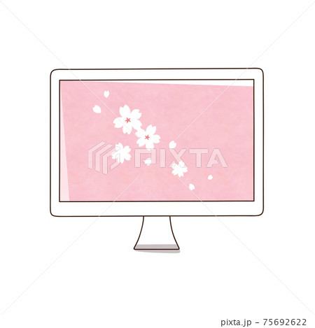 デスクトップパソコン 桜の花 75692622