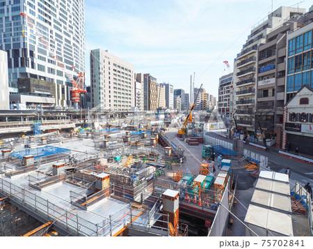 渋谷駅桜丘口 再開発の様子(2021年3月) 75702841