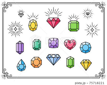 宝石とフレームのセット 75718221