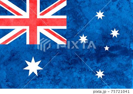 オーストラリア  国旗 和紙 水彩 75721041