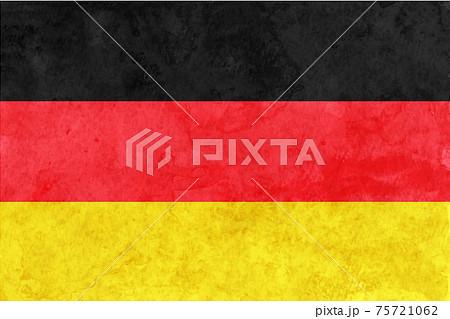 ドイツ  国旗 和紙 水彩 75721062
