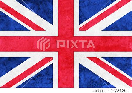 イギリス  国旗 和紙 水彩 75721069