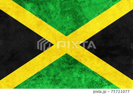 ジャマイカ  国旗 和紙 水彩 75721077