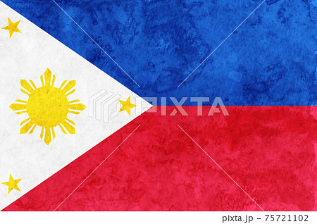 フィリピン  国旗 和紙 水彩 75721102