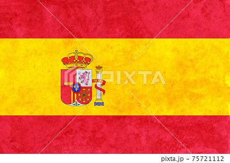 スペイン  国旗 和紙 水彩 75721112