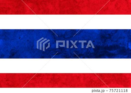 タイ  国旗 和紙 水彩 75721118