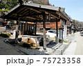 奈良井宿の水場。鳥居峠に近い宿場町には旅人ののどをいやす水場がいくつもある 75723358