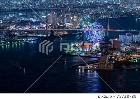 大阪 港 夜景 75728739