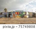 ビーチ 壁画 アート 75749808