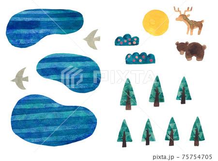 青い森と湖 75754705