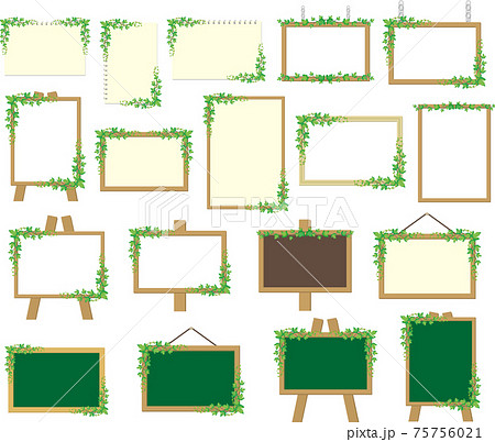 植物のフレーム素材セット 75756021