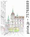 世界遺産の街並み・オーストリア・グラーツの市庁舎 75768889
