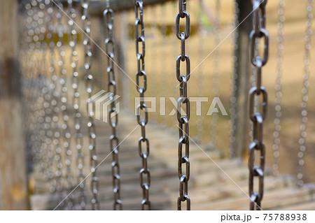 公園に有る鎖がついた遊具の画像 6596 75788938