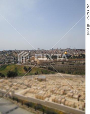 エルサレム 神殿の丘 ジオラマ風 75793192
