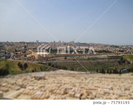 エルサレム 神殿の丘 ジオラマ風 75793193