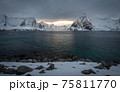 The magic of nature in Lofoten during winter 75811770