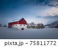 The magic of nature in Lofoten during winter 75811772