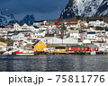 The magic of nature in Lofoten during winter 75811776