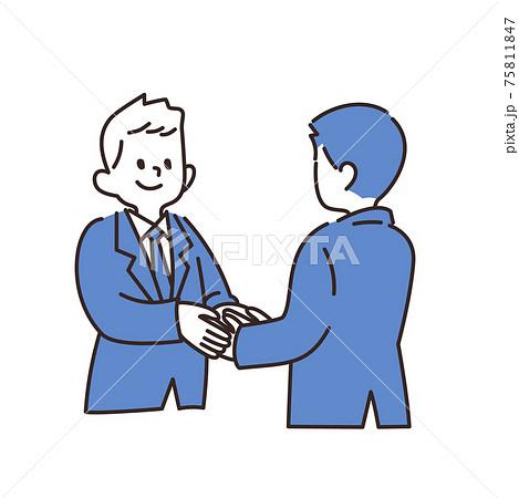 サラリーマン 握手 75811847