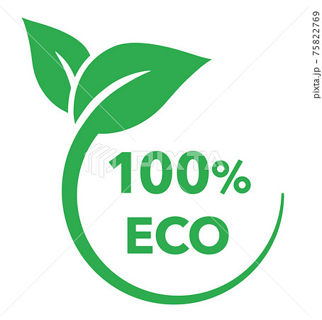 葉とエコロジーのアイコン マーク 75822769