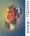 A futuristic vector illustration of a bionic lady. 75824350