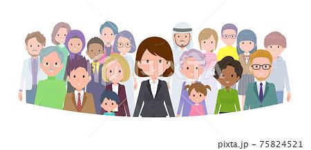 flat type business women_standing-front 75824521