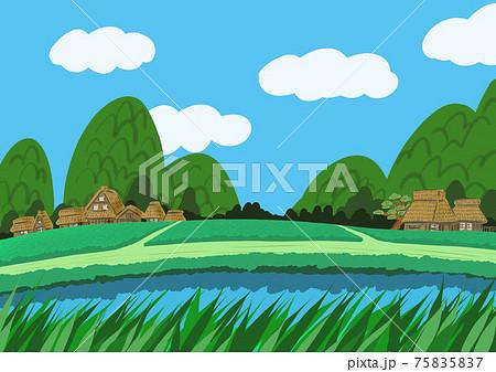 田舎の風景 75835837