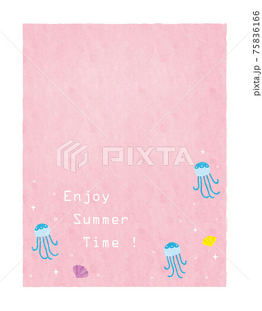 夏の素材2021(文字スペース)5テク 75836166