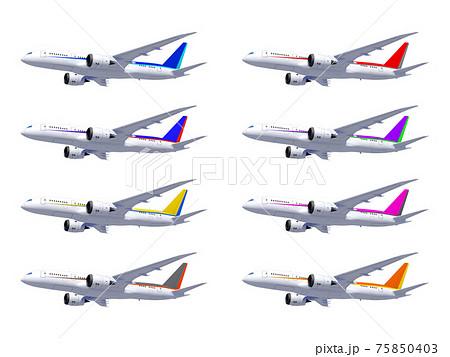 飛行機 8種セット アイコン イラスト 75850403