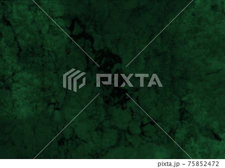 高級感のあるダークグリーンの大理石のマーブル背景テクスチャ 75852472