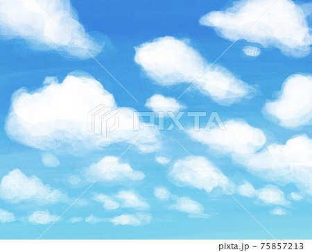 積雲とあざやかな青空 75857213