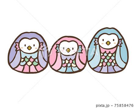 かわいいアマビエ/イラスト素材E 75858476