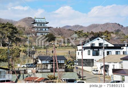 北海道の風景「松前城」(北海道松前町) 75860151