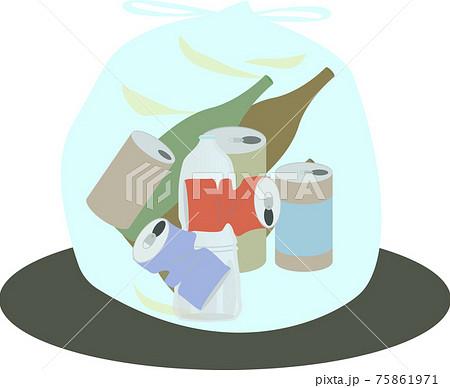 缶・ビン・ペットボトルの資源ごみ 75861971
