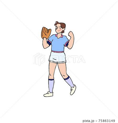 女子ソフトボール 75863149