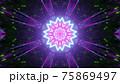 Vivid tunnel pattern 3d illustration in 4K UHD 75869497