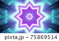 4K UHD symmetric pattern in 3d illustration 75869514