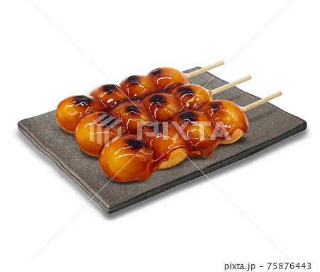 みたらし だんご イラスト リアル 皿 75876443