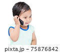 Cute Boy Speaking by cellular Phone 75876842
