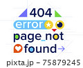 404 error, page not found, color website template 75879245