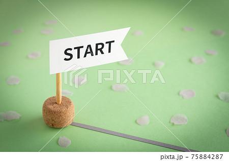 START スタート 始める スタートライン 75884287