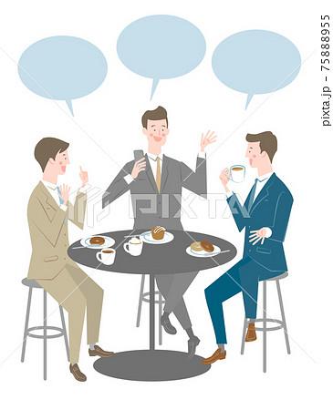 会話をする男性たち 75888955