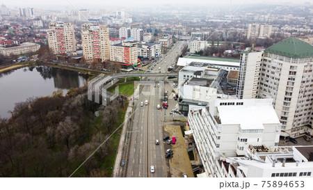 Aerial drone view of Chisinau, Moldova 75894653