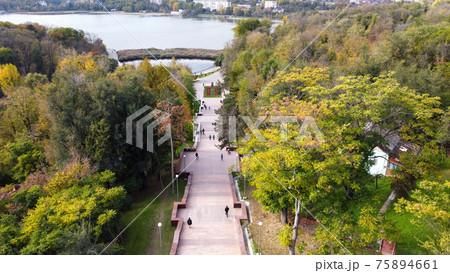Aerial drone view of Chisinau, Moldova 75894661