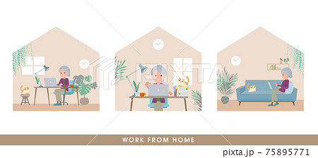 flat type Purple clothes grandma_Work-from-home 75895771